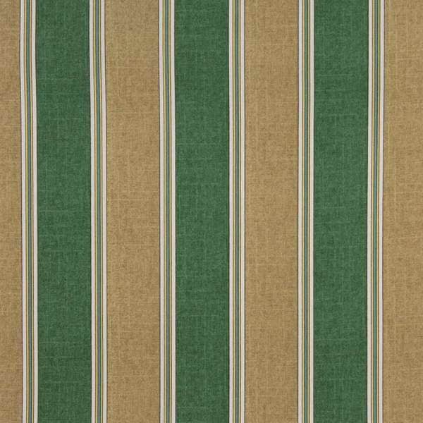 C432 Beige Green Yellow Striped Outdoor Indoor Upholstery Fabric by the Yard