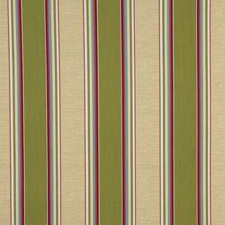 C405 Green Blue and Red Striped Outdoor Indoor Upholstery Fabric by the Yard