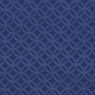 C363 Dark Blue Diamond/Circles Microfiber Upholstery Fabric