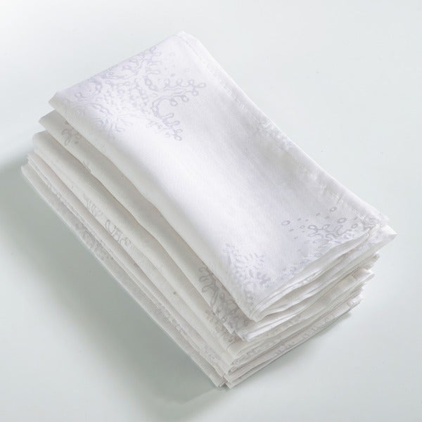 Burnout Snowflake Design Napkin (Set of 8)