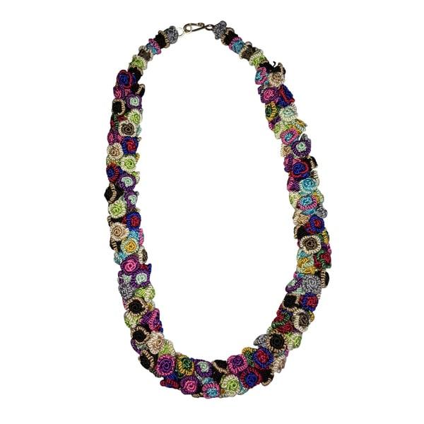 Morocco Handmade Djellaba Bead Multi-Color Necklace