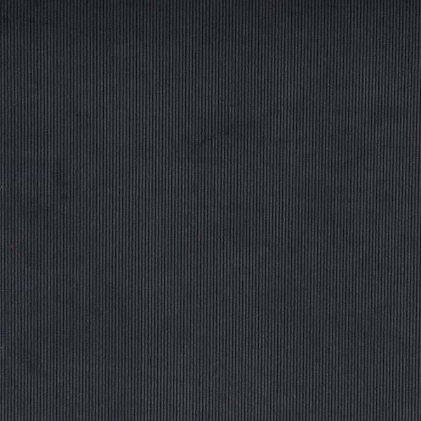 C182 Navy Blue Thin Solid Corduroy Striped Upholstery Velvet Fabric