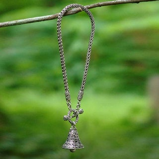 Handcrafted Sterling Silver 'Sound of a Bell' Bracelet (Indonesia)