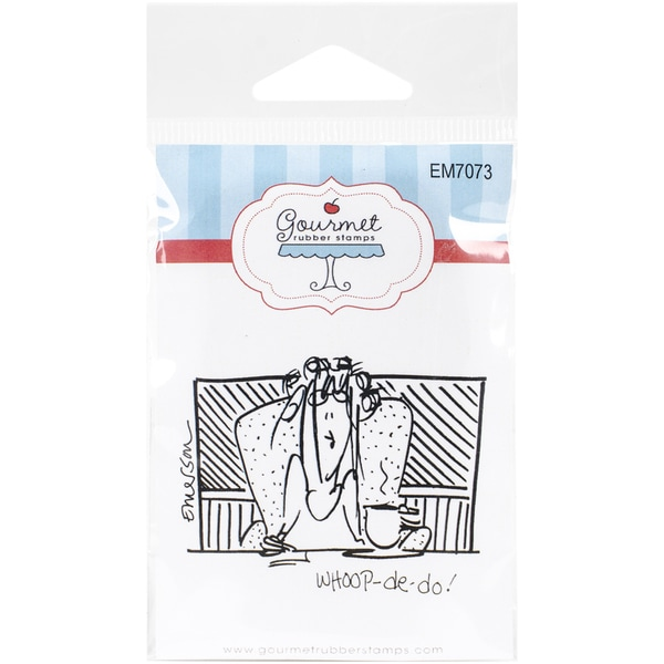 Gourmet Rubber Stamps Cling Stamps 2.75inX4.75in Whoop De Do