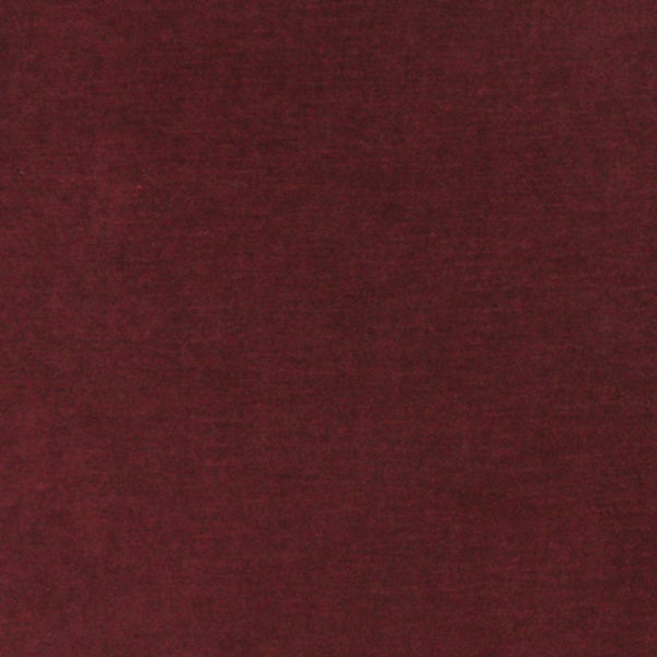 A0001E Burgundy Authentic Cotton Velvet Upholstery Fabric (By The Yard)