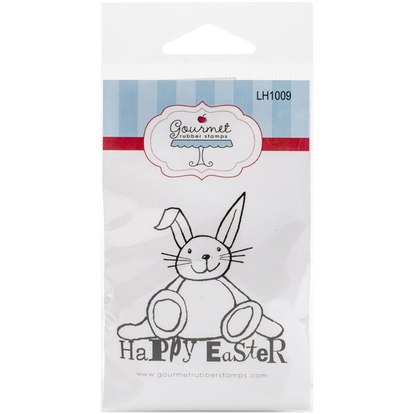 Gourmet Rubber Stamps Cling Stamps 2.75inX4.75in Happy Easter Bunny
