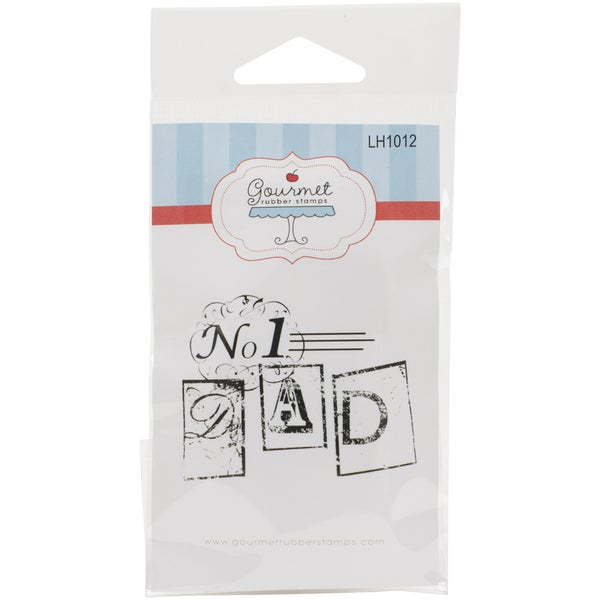 Gourmet Rubber Stamps Cling Stamps 2.75inX4.75in No. 1 Dad