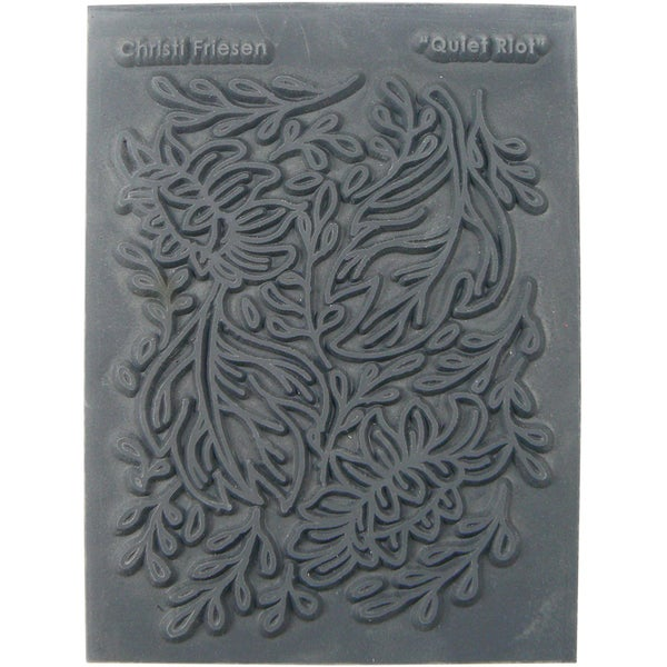 Christi Friesen Texture Stamp 5.5inX4.5in 1/Pkg Quiet Riot