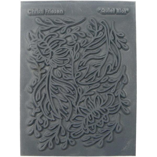 Christi Friesen Texture Stamp 5.5inX4.5in 1/Pkg Quiet Riot