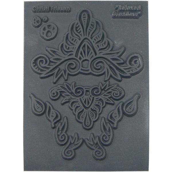 Christi Friesen Texture Stamp 5.5inX4.5in 1/Pkg Relaxed Grandeur