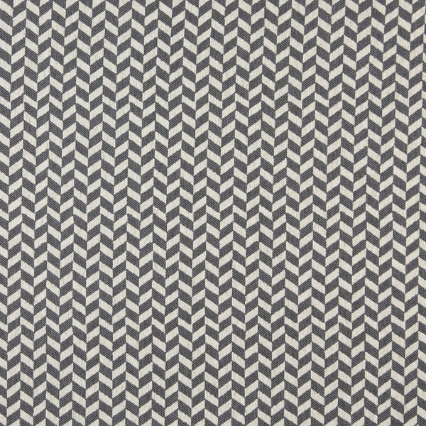 A0004B Blue Off White Herringbone Slanted Check Upholstery Fabric (By The Yard)