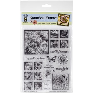 Hot Off The Press Acrylic Stamps 6inX8in Sheet Photo Flowers