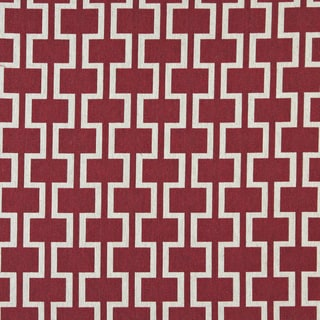 A0006A Red Off White Modern Geometric Upholstery Fabric (By The Yard)