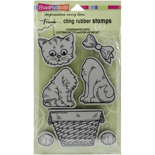 Stampendous Cling Rubber Stamp 7inX5in Pkg Pop Up Kitties