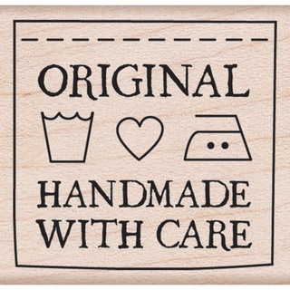 Hero Arts Mounted Rubber Stamps 1.75inX1.75in Handmade With Care