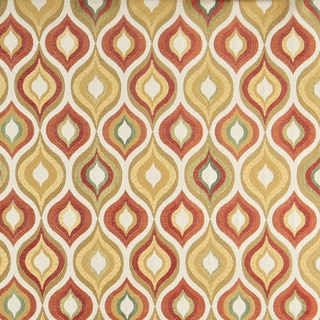 A0019C Gold Red Green Orange Bright Contemporary Upholstery Fabric (By The Yard)