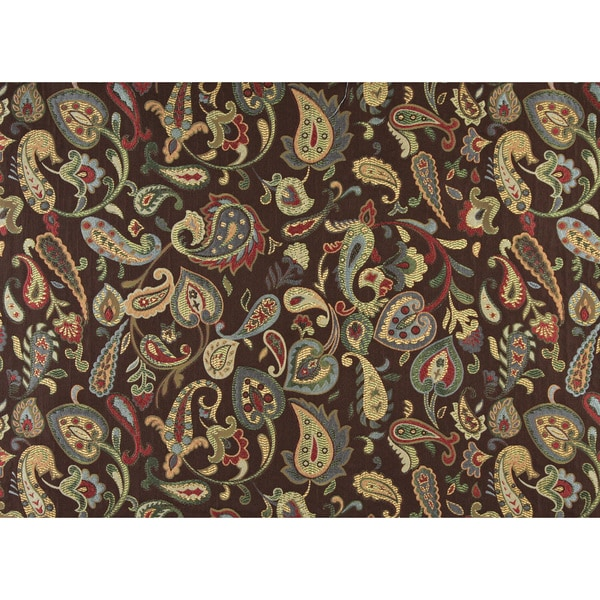 A0021A Blue Red Green Yellow Brown Floral Contemporary Upholstery Fabric