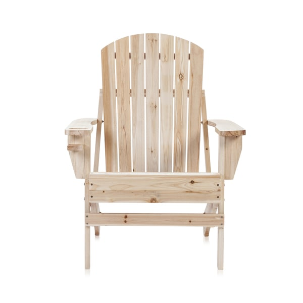 Trademark Innovations Natural Wood Natural Adirondack Chair