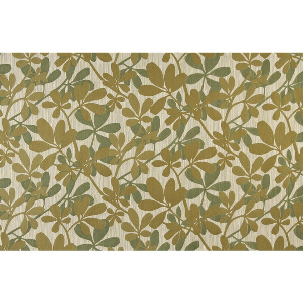 A0030A Green Abstract Leaves Contemporary Upholstery Fabric (By The Yard)