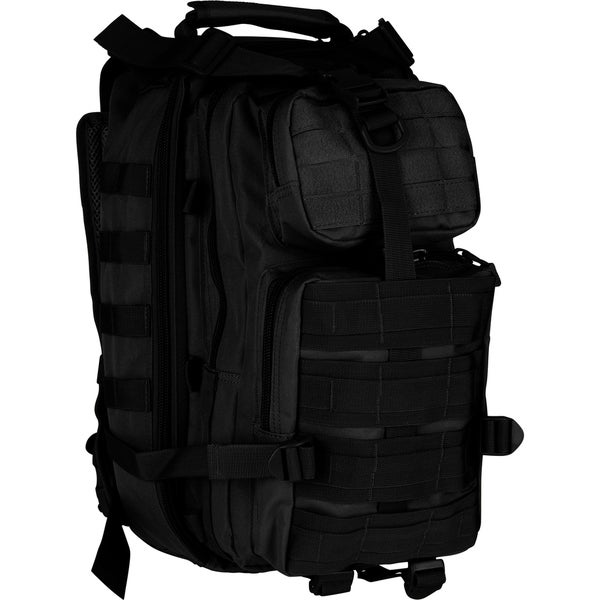 Modern Warrior Military High Quality Tactical Black Backpack