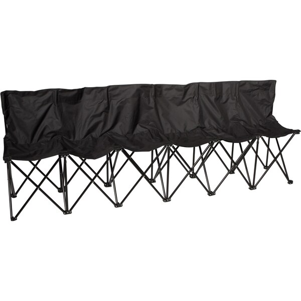 Trademark Innovations 6-person Folding Sports Sideline Bench Black Sports Sideline Bench