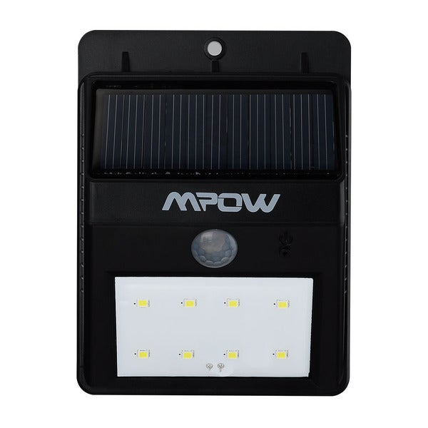 Mpow Solar Powerd Wireless LED Security Motion Sensor Light, Outdoor Wall/garden Lamp