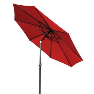 Trademark Innovations 10-inch Tilt with Crank Red Patio Umbrella