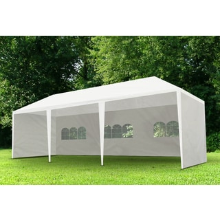 Trademark Innovations 10-foot x 30-foot White Collapsible Canopy with Carry Case