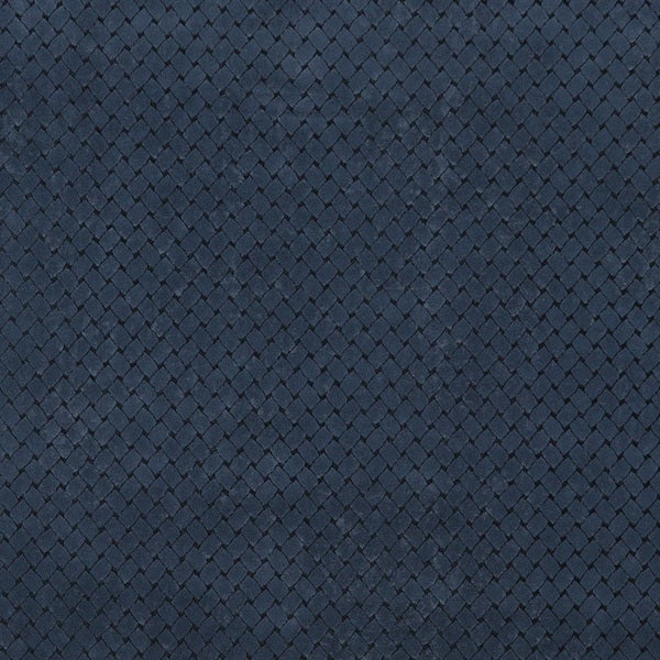 B852 Navy Blue/ Criss Cross Trellis Microfiber Upholstery Fabric by the Yard