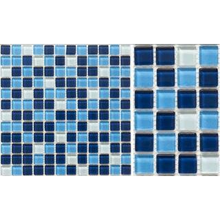 Martini Mosaic Piazza Mountain Lake 12 x 12-inch (Set of 10)