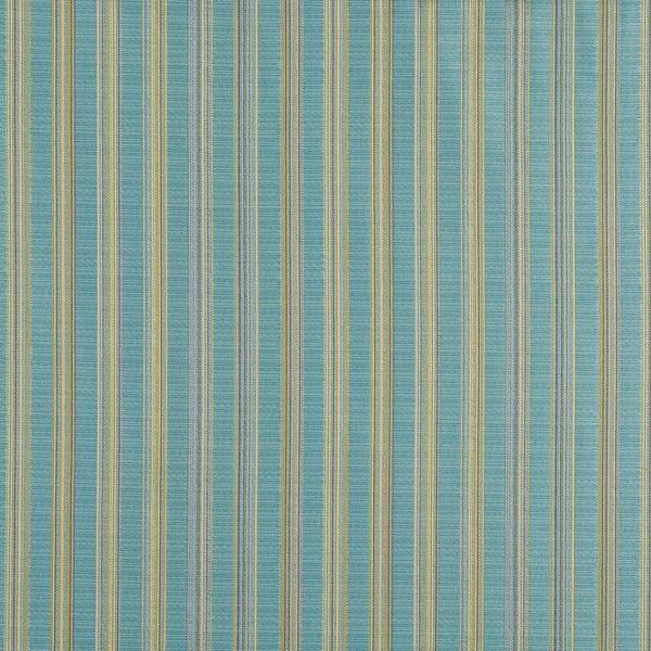 A0090G Turquoise And Green Stripe Upholstery Jacquard Fabric (By The Yard)