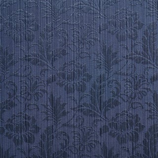 A0100B Navy Two Toned Floral Metallic Sheen Upholstery Fabric (By The Yard)