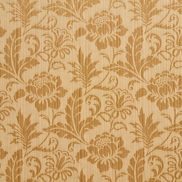 A0100H Gold Two Toned Floral Metallic Sheen Upholstery Fabric (By The Yard)