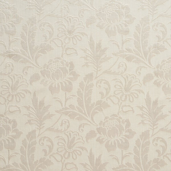 A0100J Ivory Two Toned Floral Metallic Sheen Upholstery Fabric (By The Yard)