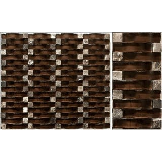 Martini Mosaic Vento Rich Chocolate 12 x 12-inch (Set of 5)