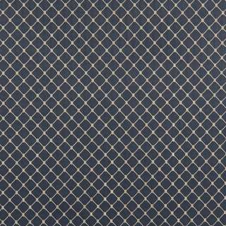 B645 Navy Blue/ Diamond Durable Jacquard Upholstery Fabric by the Yard