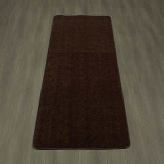 Ottomanson Softy Collection Solid Color Bathroom Runner Rug