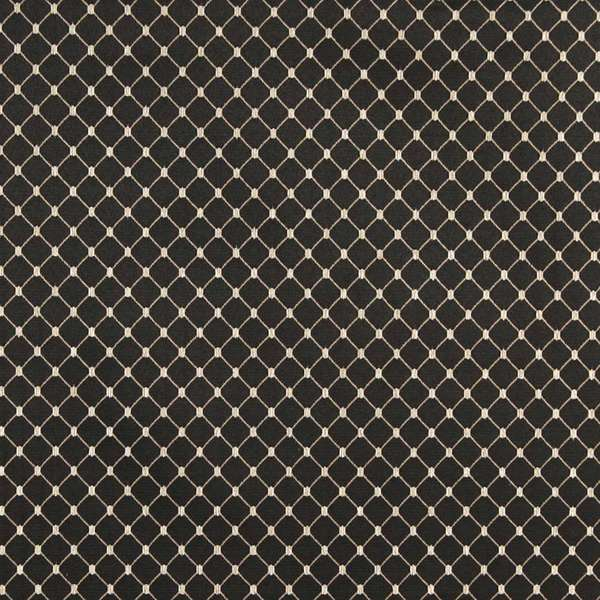 B651 Black/ Diamond Durable Lightweight Jacquard Upholstery Fabric by the Yard