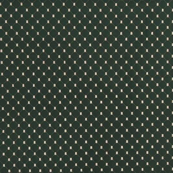 B646 Green/ Diamond Woven Jacquard Upholstery Fabric by the Yard