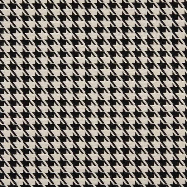 A0119A Black Beige Hounds Tooth Woven Outdoor Upholstery Fabric (By The Yard)