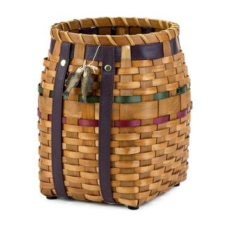 Camping Trip Brown Wood Wastebasket