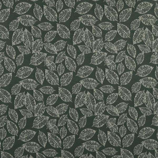 Green/ Floral Leaf Jacquard Woven Upholstery Fabric by the Yard