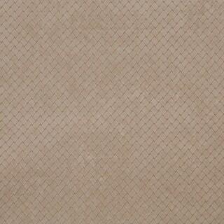 B853 Beige Criss Cross Trellis Microfiber Upholstery Fabric by the Yard