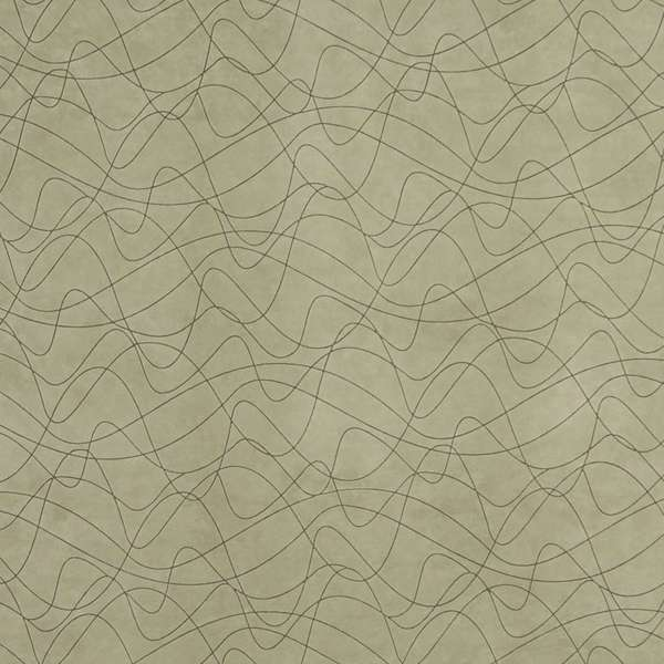 B375 Dark Green Abstract Indented Lines Microfiber Upholstery Fabric by the Yard
