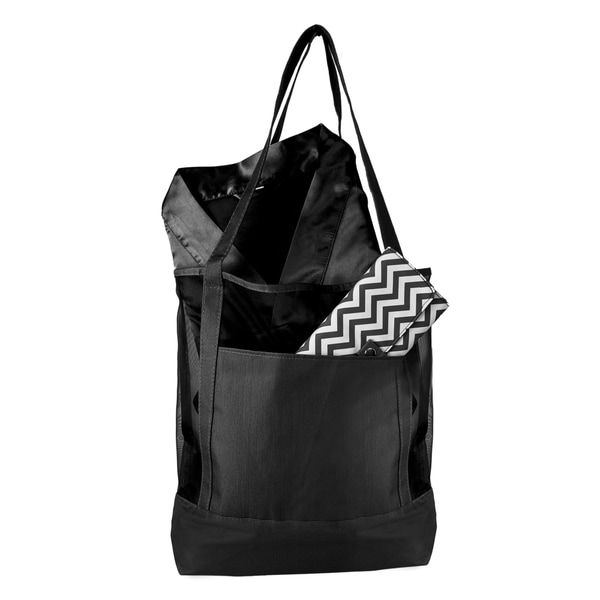 Black Mesh Tote Spa Set