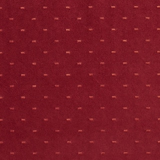 Burgundy Embroidered Dots Suede Upholstery Fabric by the Yard