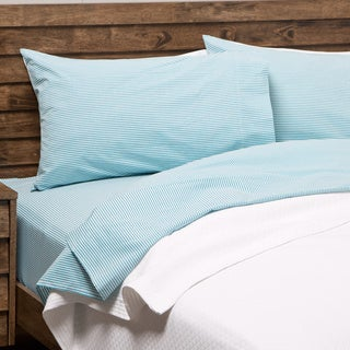 Oxford Stripe 100-percent Cotton Yarn Dyed King Pillow Cases