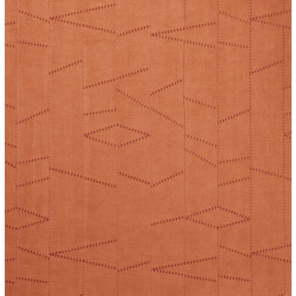 B135 Persimmon Frankenstein Stitch Suede Upholstery Fabric by the Yard