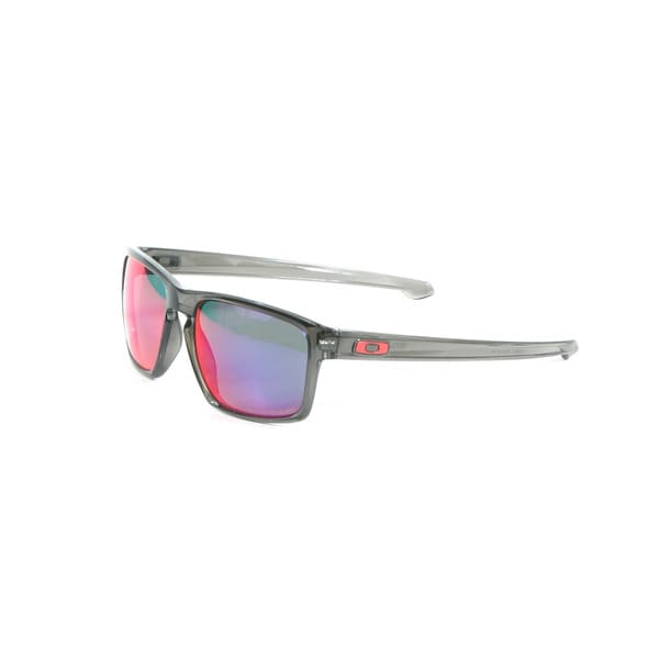 Oakley Grey Smoke Silver Sunglasses with Red Iridium Polarized Lenses