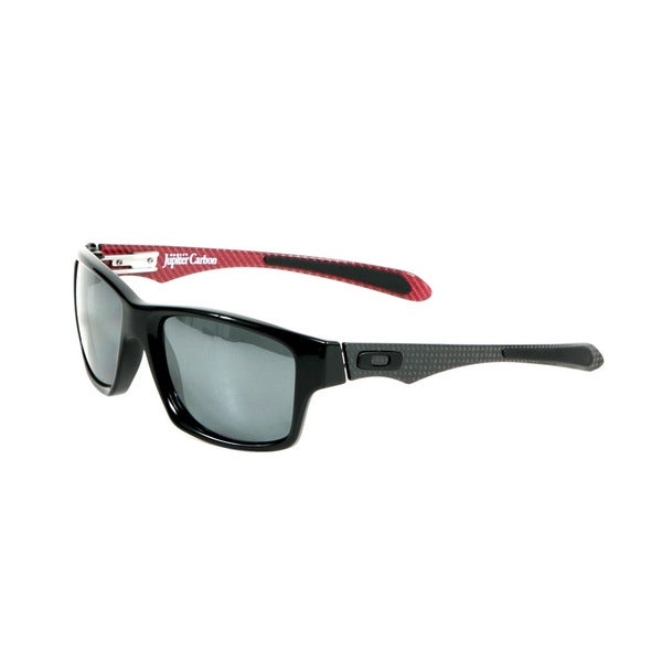 Oakley Polished Black Jupiter Carbon Sunglasses with Black Iridium Polarized Lenses